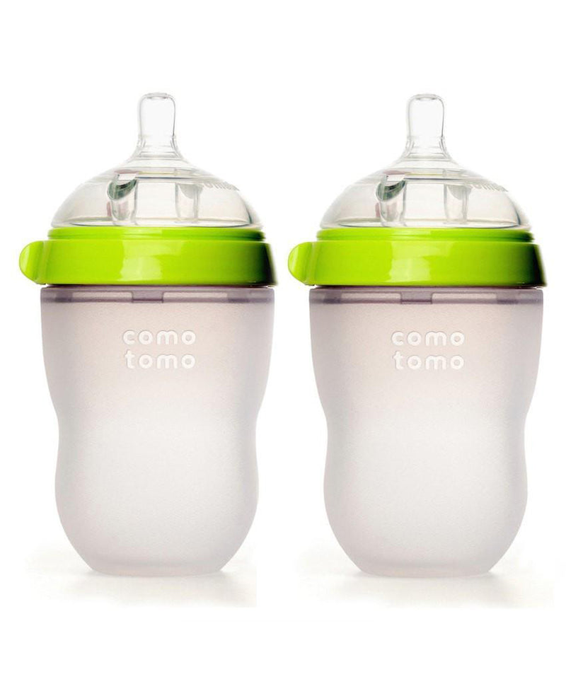 Comotomo Natural Silicone Baby Bottle 250ml 2 Pack