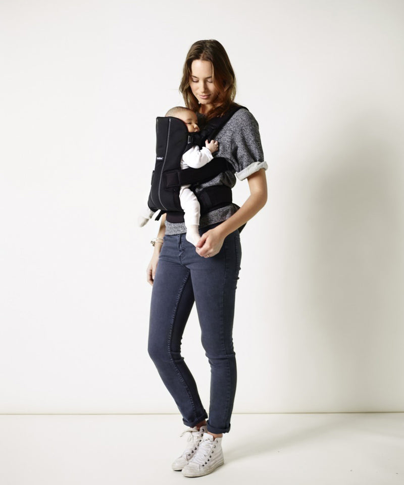 BabyBjörn Baby Carrier We Black Cotton