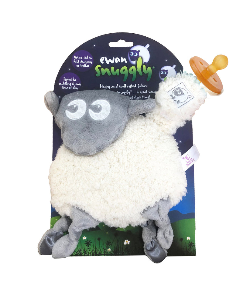 Ewan The Dream Sheep Snuggly Baby Comforter with Dummy Holder