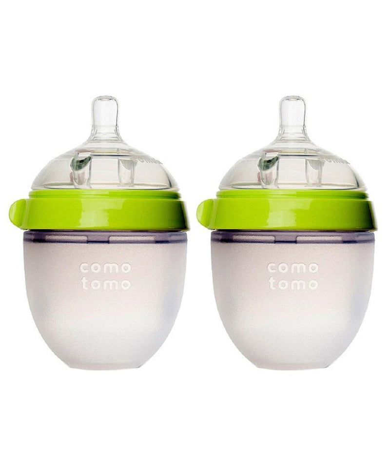 Comotomo Natural Silicone Baby Bottle 150ml 2 Pack - Green