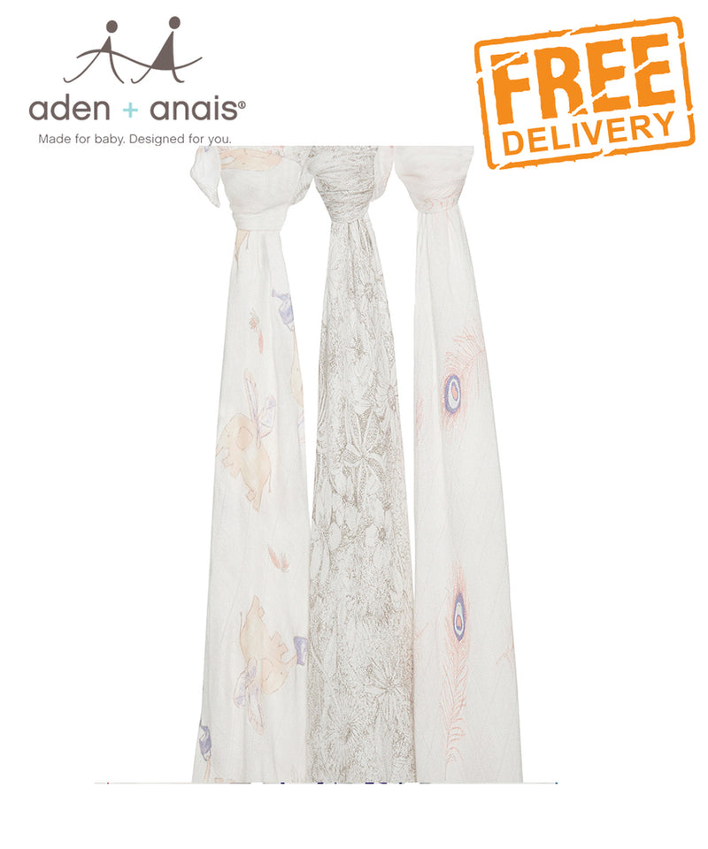 Aden + Anais Bamboo Swaddles 3 Pack - Featherlight