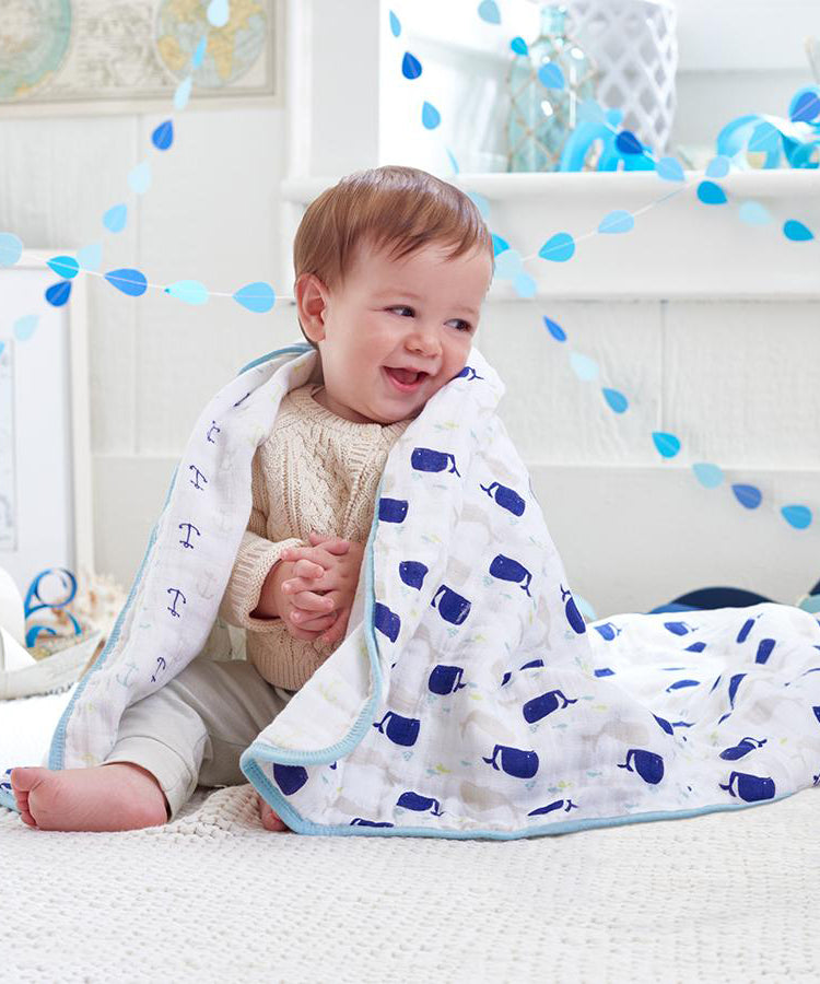 Aden + Anais Classic Muslin Dream Blankets™ - high sea