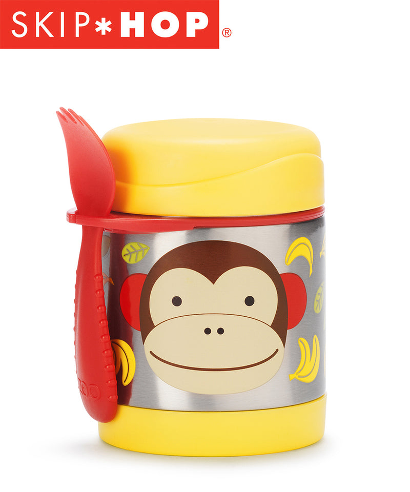 Skip Hop Zoo Insulated Food Jar + Spork - Various Designs
