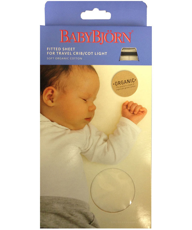 BabyBjörn Organic Fitted Sheet for Travel Cot Light