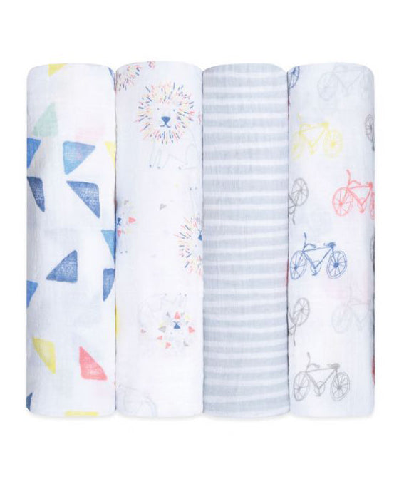 Aden + Anais Classic Swaddles 4 Pack - leader of the pack