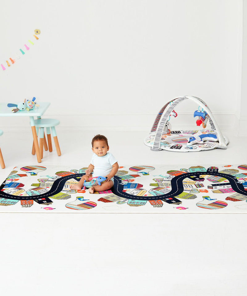Skip Hop Doubleplay Reversible Playmat - Vibrant Village/Sketch Triangle