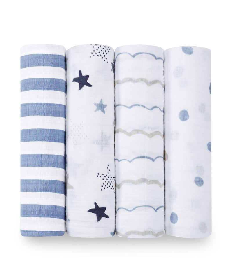 Aden + Anais Classic Swaddles 4 Pack - Rock Star