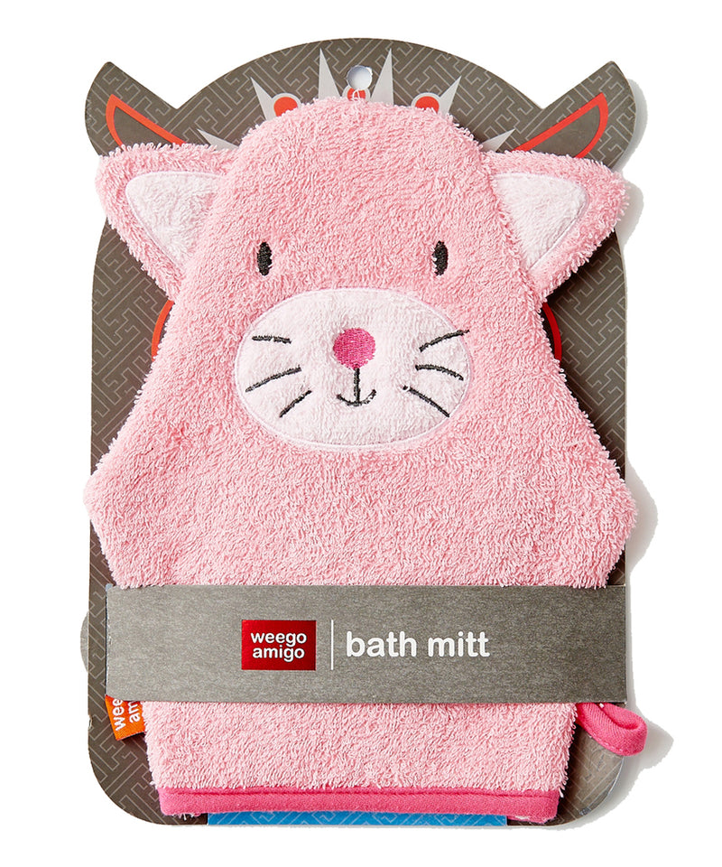 Weegoamigo Bath Mitt and Hooded Towel - Kitten