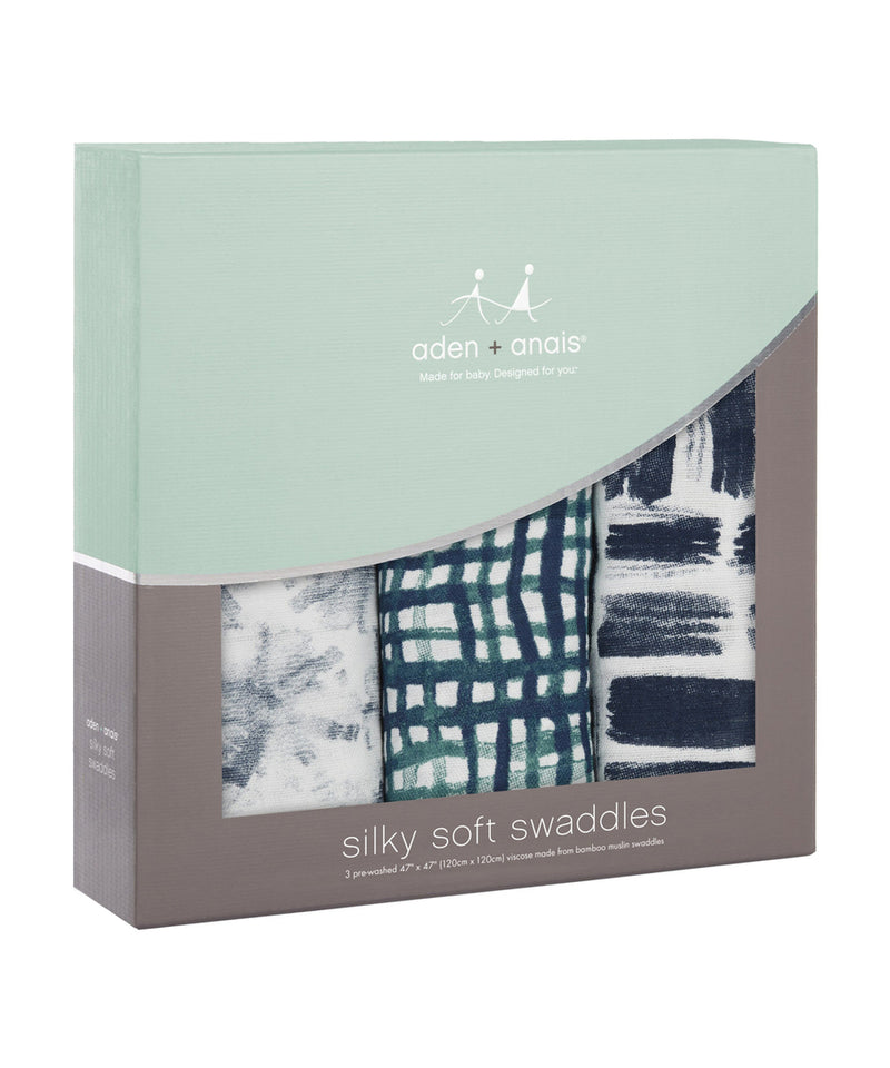 Aden + Anais Bamboo Swaddles 3 Pack - Seaport