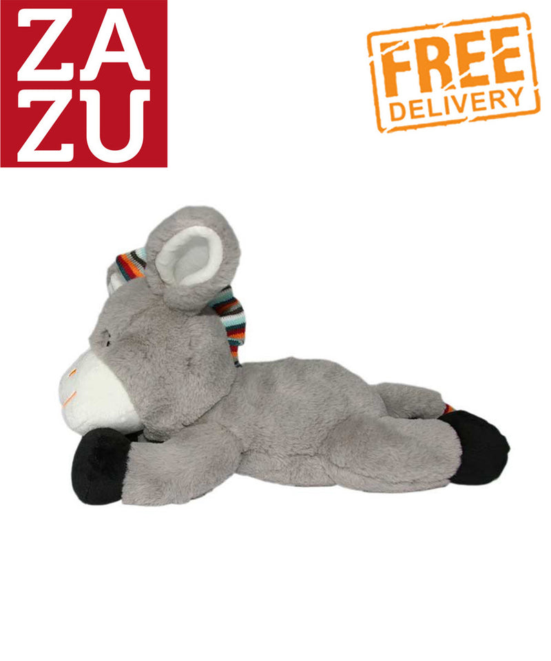 Zazu Plush Toy Comforter with Heartbeat Sound - Don the Donkey