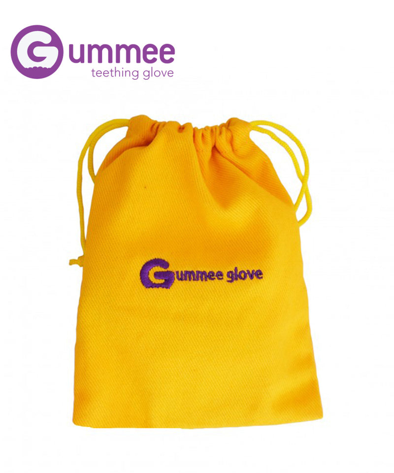 Gummee Glove Teether Mitten - Yellow