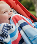 Weegoamigo Bamboo/Cotton Knitted Baby Blanket - Cycle Stripe