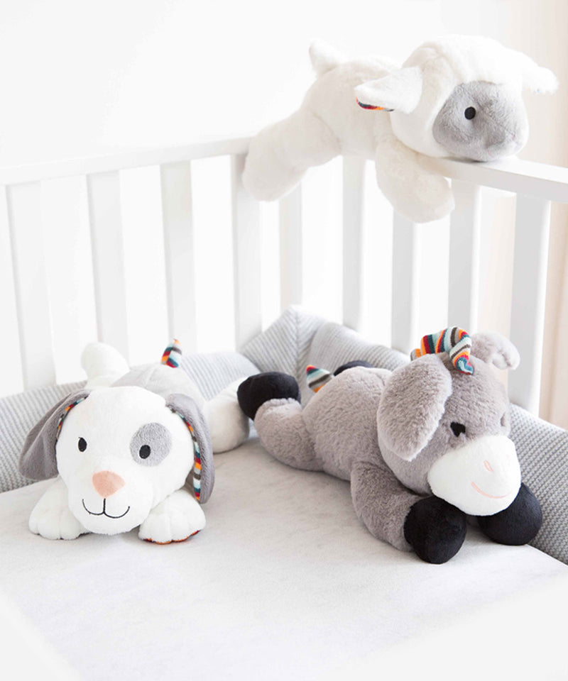 Zazu Plush Toy Comforter with Heartbeat Sound - Liz the Lamb