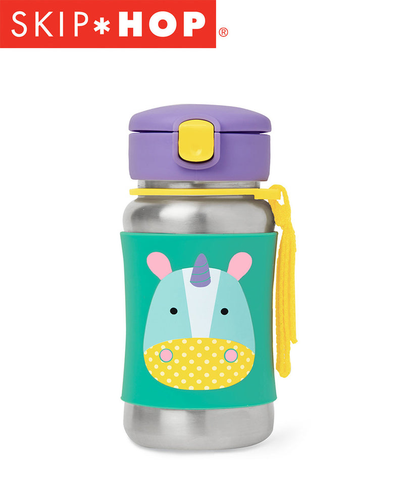 Skip Hop Zoo Stainless Straw Bottle Various Designs