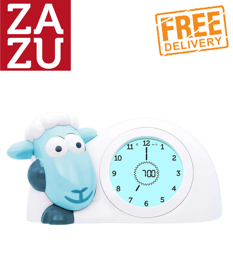 Zazu Sam The Lamb Sleep Trainer and Night Light - Blue