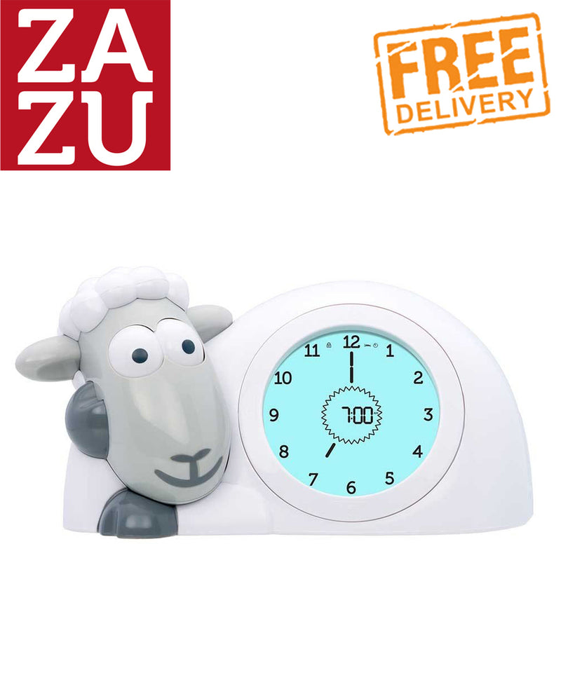 Zazu Sam The Lamb Sleep Trainer and Night Light - Grey