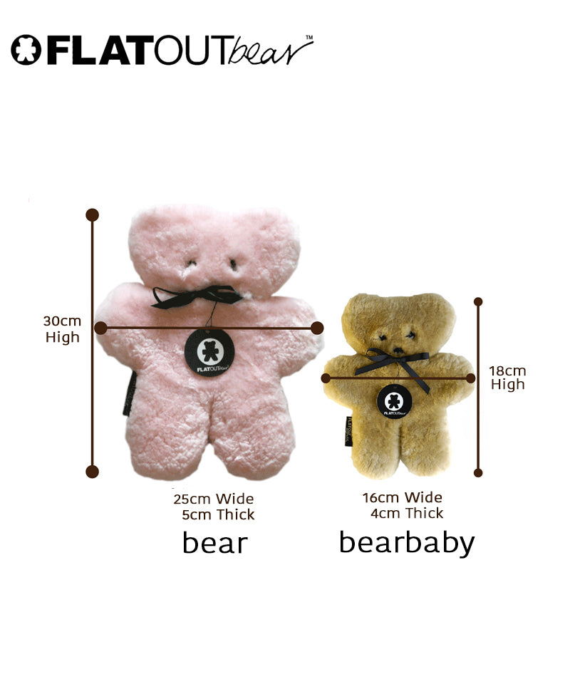 FLATOUT Sheepskin Bear - Honey