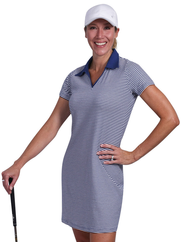 Bailey Striped Polo Dress