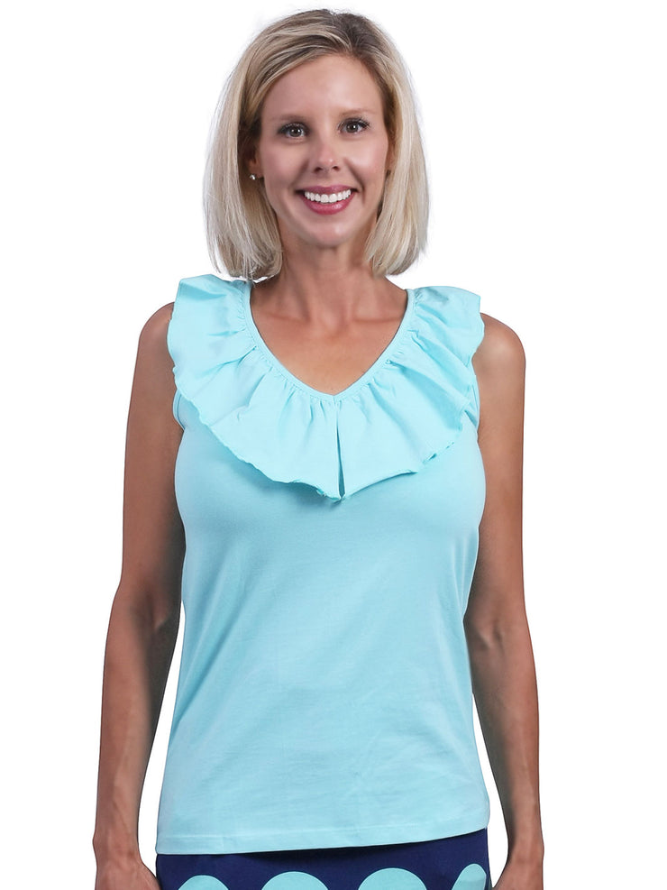 Baylor Solid Sleeveless Top
