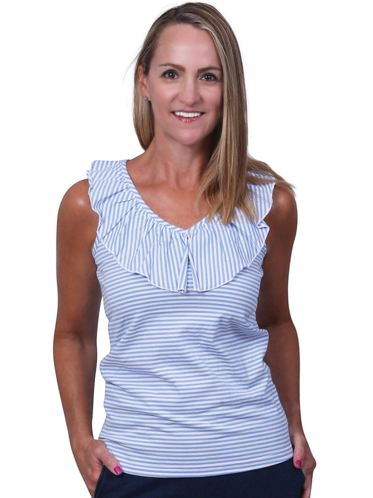 Baylor Stripe Sleeveless Top