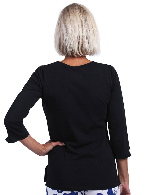 Nicole Solid 3/4 Sleeve Top