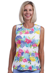 Kaylie  Printed Sleeveless Top