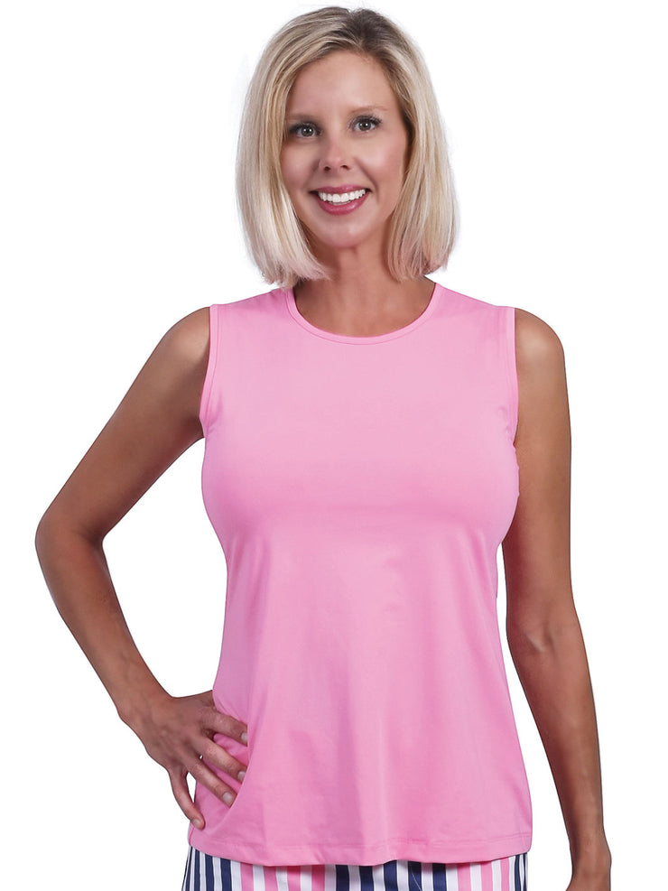 Kaylie  Solid Sleeveless Top