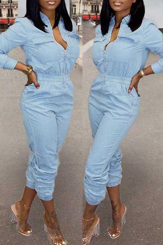 Zipper Pocket Jumpsuit