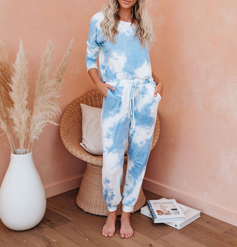 Pop The Sunroof Pocketed Tie Dye Knit Jogger