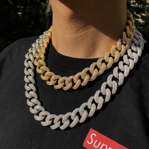 hip hop chain gold and silver