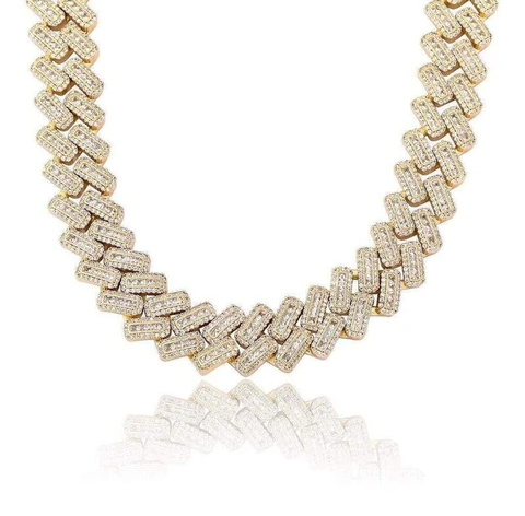 HIP HOP CHAIN ICED OUT MICRO PAVE CUBAN NECKLACE