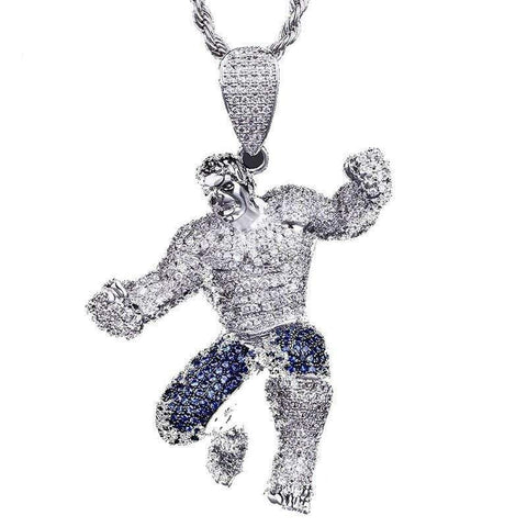 Hip Hop Pendant <br>  Iced Out HULK Pendant Necklace