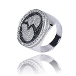 Hip Hop Ring <br> Iced Out Black Diamond Heart Ring - DIAMONDSHAPE