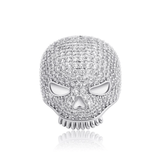 DIAMONDSHAPE 100007323 TOPGRILLZ New Hip Hop Skull Rings High Quality Iced Out Micro Pave Cubic Zirconia Rings Gold Plated Men's Fashion Jewelry Gift