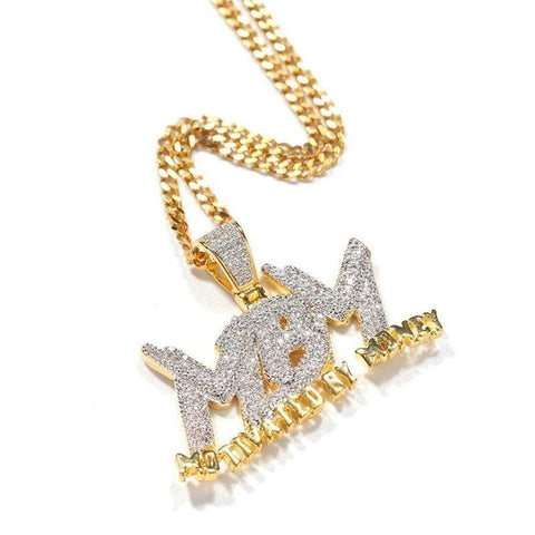 Hip Hop Pendant <br>  Iced Out MBM Bling Pendant Necklace