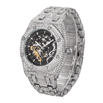 DIAMONDSHAPE 200363143 TOPGRILLZ Mechanical Luxury Rhinestones Watches White Gold Shine CZ Mens Watches Stainless Steel Watch Quality Business Watch