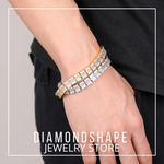 DIAMONDSHAPE BRACELET Hip hop bracelet <br> Iced Out 12mm Tennis Square Bracelet Hip hop bracelet <br> Iced Out 12mm Tennis Square Bracelet | DIAMONDSHAPE