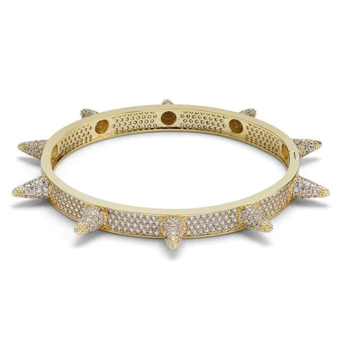 DIAMONDSHAPE BRACELET Gold Hip hop bracelet <br>  Iced Out Spiky Cubic Zirconia Bracelet Hip hop bracelet <br>  Iced Out Spiky Cubic Zirconia Bracelet | DIAMONDSHAPE