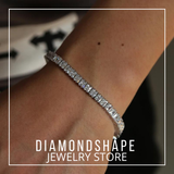 DIAMONDSHAPE BRACELET Hip Hop Bracelet <br> Round Cut Diamond Tennis Bracelet Hip Hop Bracelet | Round Cut Diamond Tennis Bracelet | DIAMONDSHAPE