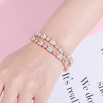 DIAMONDSHAPE BRACELTS 6mm Bracelet High Quality Round and Square Iced Out Cubic Zirconia Women's Bracelet Hip Hop Fashion Jewelry For Gift