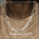 Hip hop chain with diamond silver