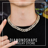 Hip hop chain with diamond gold
