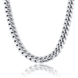 DIAMONDSHAPE chains New 10MM&12MM Cuban Chain Necklace With Iced Out Cubic Zirconia Box Clasp Hip Hop Rock Fashion Jewelry Gift For Men