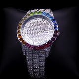 DIAMONDSHAPE White Gold Iced Out Rainbow Diamond Watch