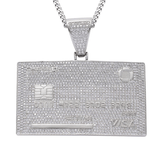 credit card pendant white gold