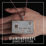 diamondshape pendant credit card