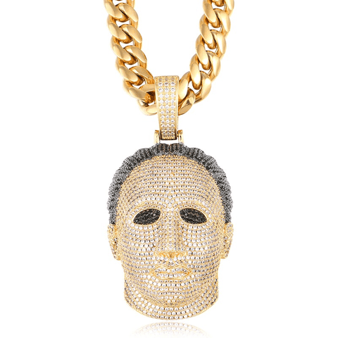 DIAMONDSHAPE PENDANTS Gold Hip Hop Pendant <br> Iced Out Halloween Pendant Necklace Hip Hop Pendant | Iced Out Halloween Pendant Necklace | Best Price