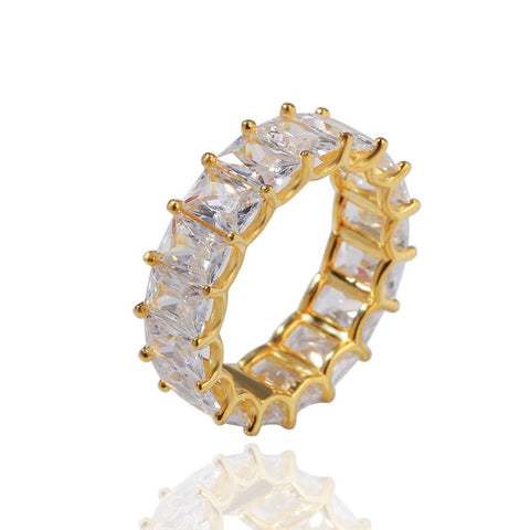 DIAMONDSHAPE RING Hip Hop Ring <br> Icy BLing Baguette  CZ Ring