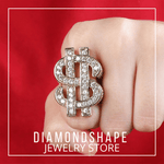 DIAMONDSHAPE RING Hip Hop Ring <br> Super Dollar Ring