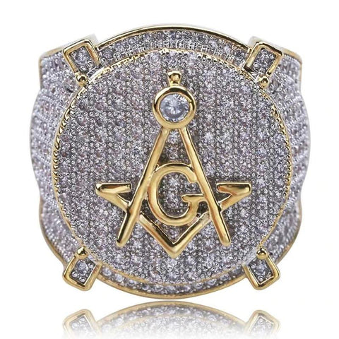 DIAMONDSHAPE rings 7 Hip Hop Ring <br> Iced Out All Seeing Eye Pendant Hip Hop Ring | Iced Out All Seeing Eye Pendant | Best Price Now